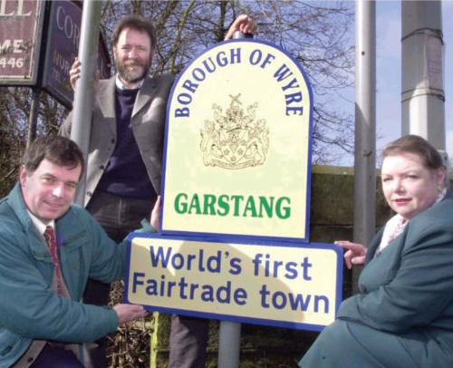Garstang world's first Fair Trade Town sign